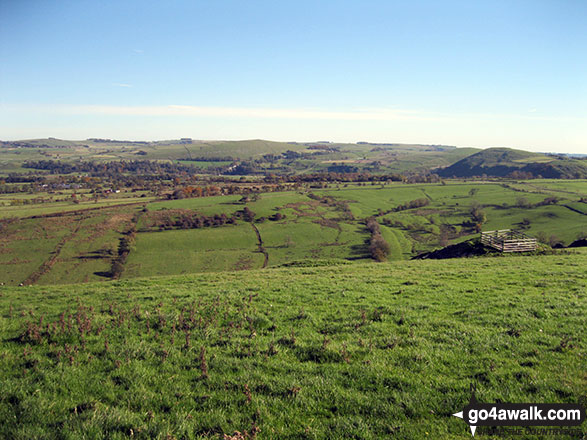 Archford Moor and Narrowdale Hill (right) from Ecton Hill