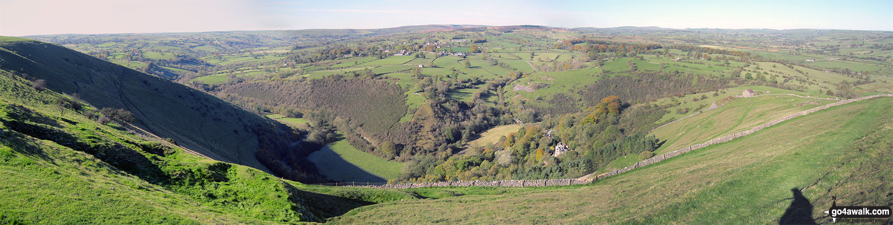 Dale Bridge, Ecton and the Manifold Way from Ecton Hill