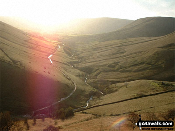 The Pennine Way to Upper Booth from the top of Jacob's Ladder (Edale). Walk route map d296 Jacob's Ladder and Kinder Scout from Edale photo