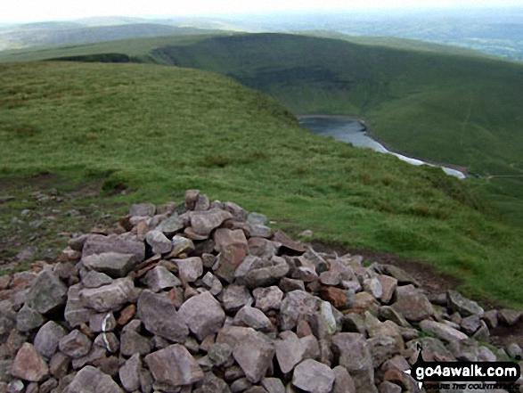 Llyn y Fan Fach from Picws Du (Bannau Sir Gaer) summit