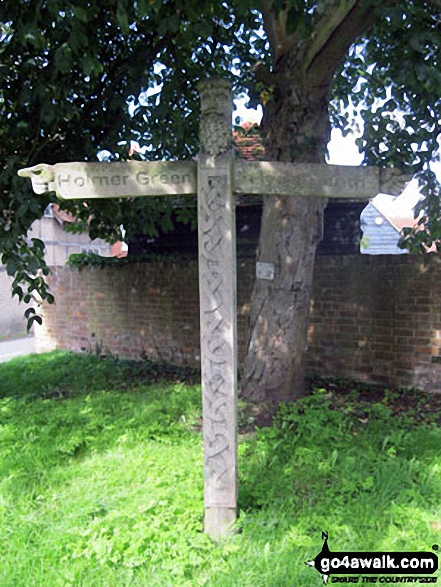 Unusual Way Marker Post in Little Missenden