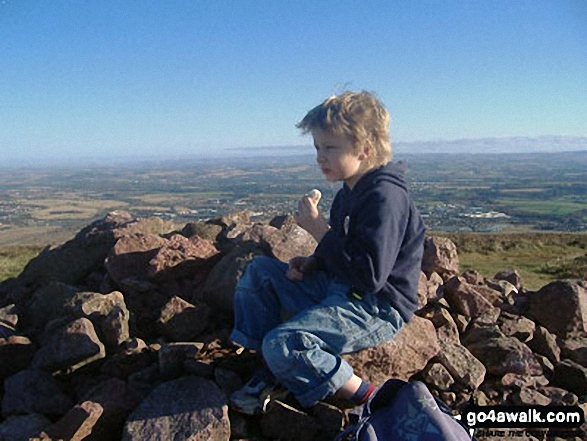 Fred on top of Scald Law in The Pentland Hills, South West of  Edinburgh