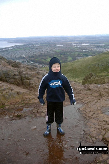 Fred on the top of Arthur's Seat