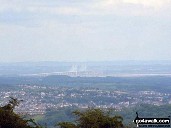 The view from the top of Mynydd Machen (Machen Hill)