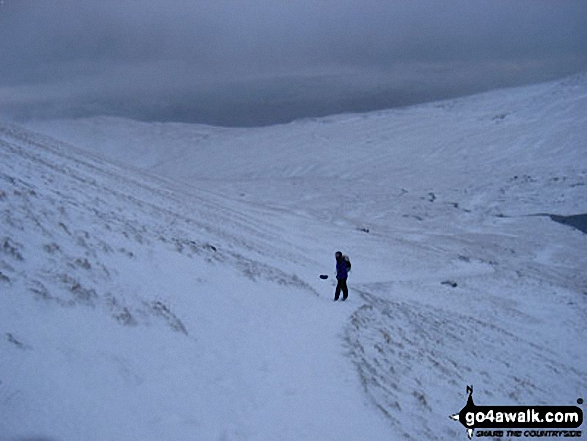 Approaching Swirral Edge in the Snow