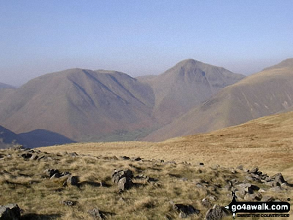 Great Gable and Kirk Fell (left) from Illgill Head