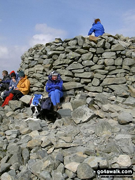 Walk Picture/View: Scafell Pike Summit in The Southern Fells, The Lake District, Cumbria, England by Mick Fox (5)