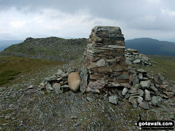 Rhobell Fawr summit trig point