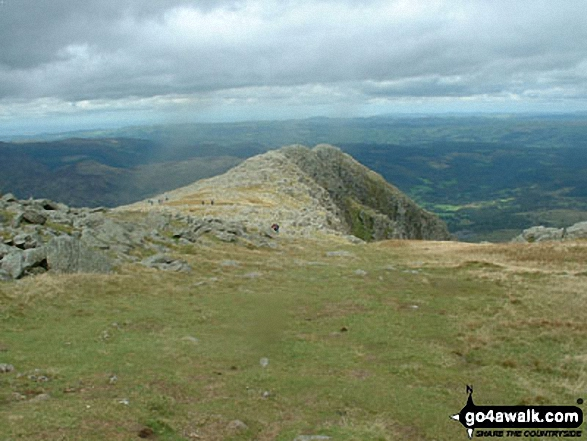 The summit ridge on Carnedd Moel Siabod