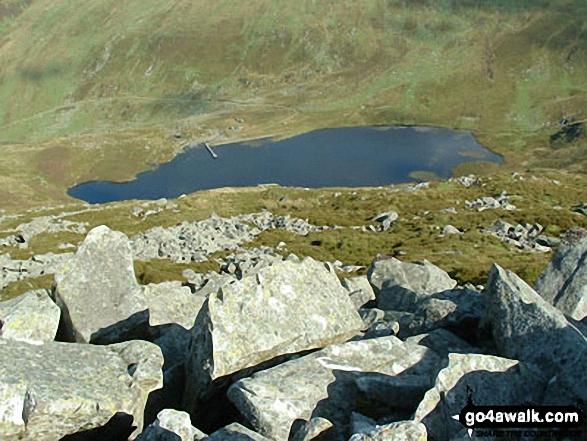 Llyn Anafon from the 700m contour on Llwytmor