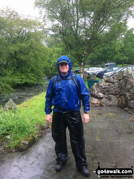 A very grumpy Shaun post walk in Glenridding after scaling Helvellyn via Striding Edge on a very, very wet day!