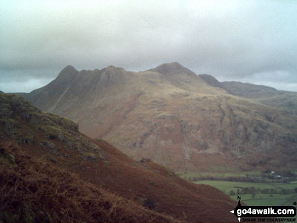 The Langdale Pikes from Pike of Blisco (Pike o' Blisco)