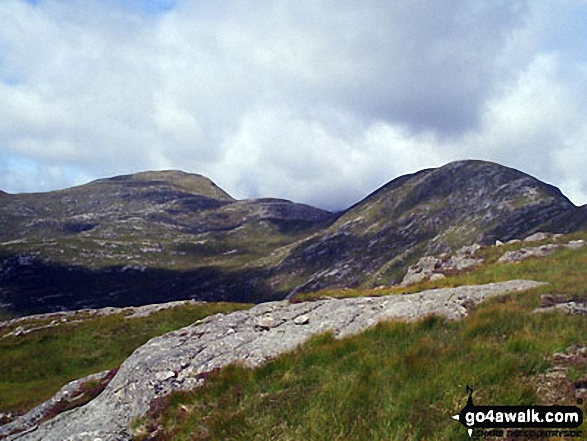 The west ridge of Beinn nan Aighenan