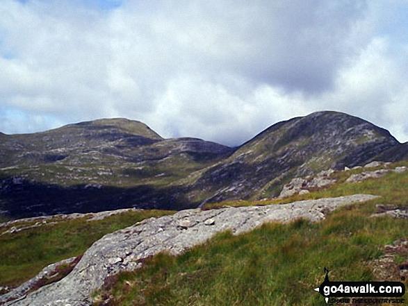 The west ridge of Beinn nan Aighenan