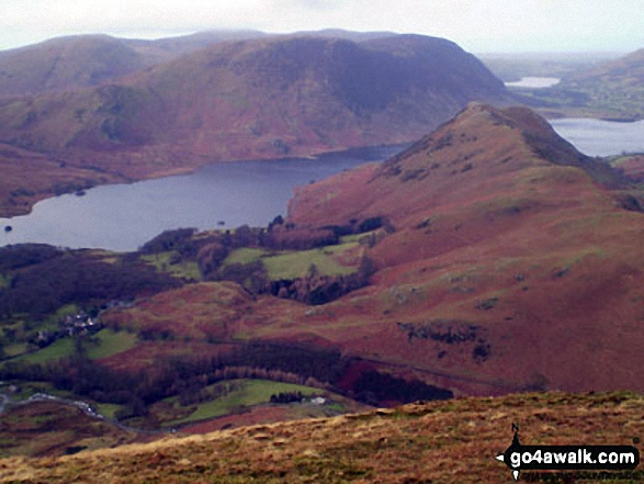 Rannerdale Knotts (foreground) and Crummack Water with Mellbreak beyond from High Snockrigg