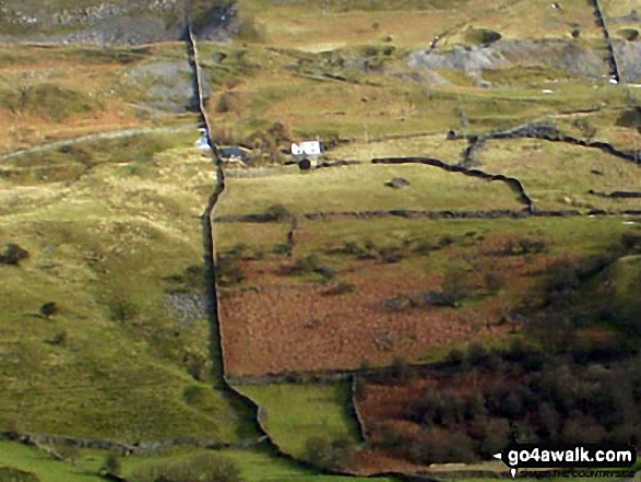 White House in Arkengarthdale from Calver Hill