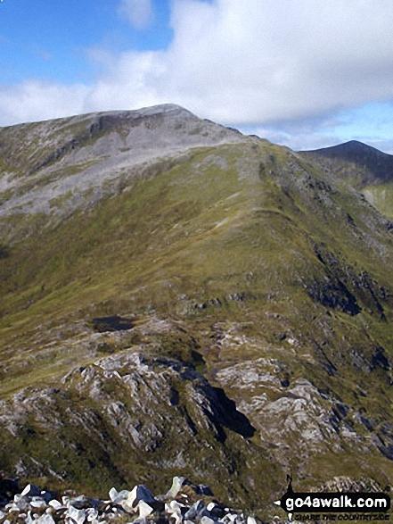 Climbing Beinn nan Aighenan