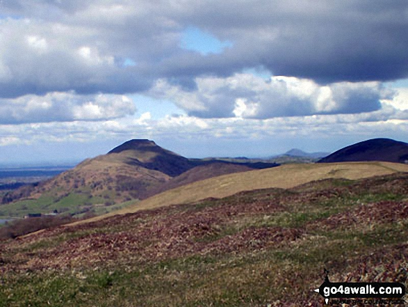 Caer Caradoc Hill from Ragleth Hill. Walk route map sh103 Ragleth Hill and Caer Caradoc Hill from Church Stretton photo
