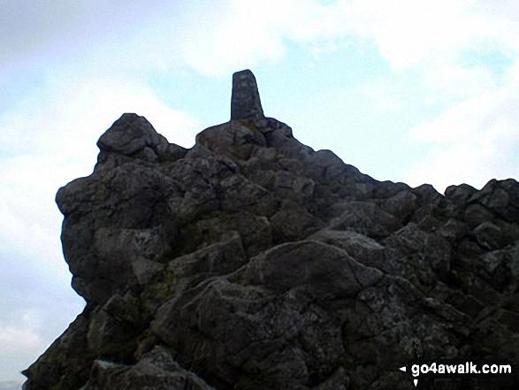 Stiperstones (Manstone Rock) summit Trig Point