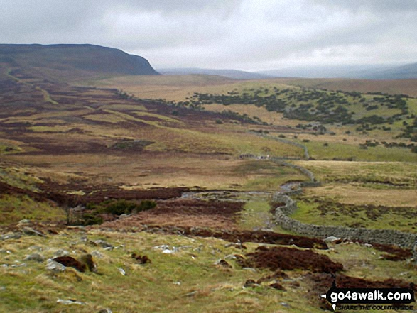 Cronkley Scar from The Pennine Way in Upper Teesdale near High Force