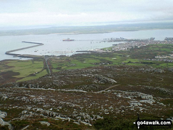 Holyhead from the summit of Holyhead Mountain