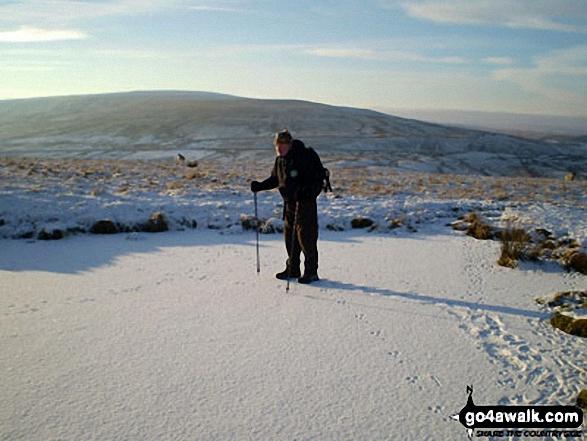 Frozen pond on Black Hill (Westernhope Moor) Upper Weardale