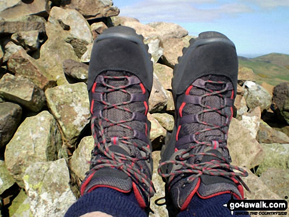 My new boots on Great Hetha near Hethpool