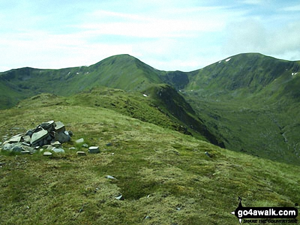 Mam Sodhail and Carn Eige from Sgurr na Lapaich