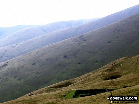 The Howgill Fells from Cautley Spout