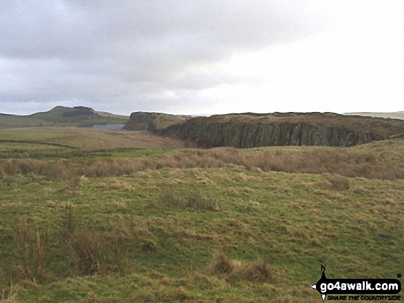 Hadrian's Wall at Steel Rigg with Crag Lough beyond