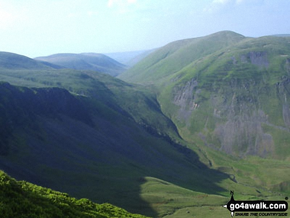 Walk Great Dummacks walking UK Mountains in The Howgill Fells The Yorkshire Dales National Park Cumbria    England
