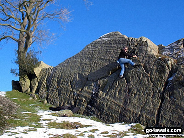 Bouldering on the summit of Brant Fell