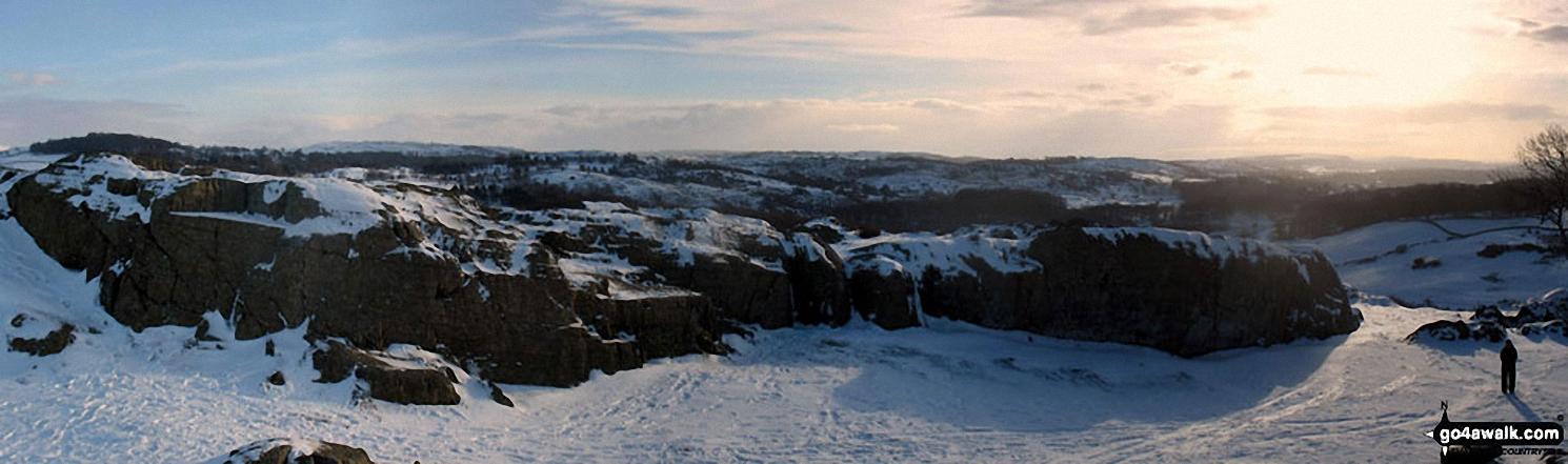 Panoramic view from the summit of Brant Fell