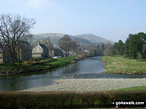 The River Esk in Langholm where it meets Ewes Water
