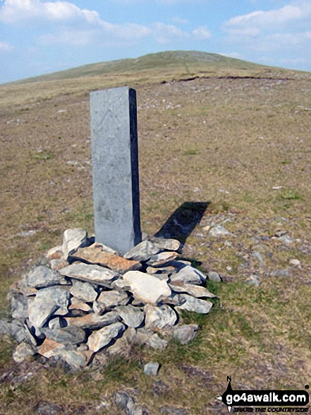 Boundary stone on the approach to Pen Pumlumon Arwystli