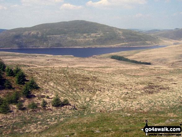 Drosgol (Pumlumon) and Nant-y-moch Reservoir from Y Garn (Pumlumon)