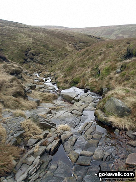 Crossing Boar Clough on the way up Pendle Hill