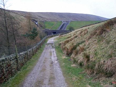 Approaching Upper Ogden Reservoir Dam