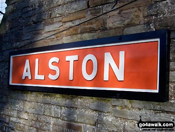 Alston Railway Station Name Plaque