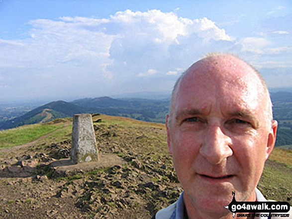 Me on Worcestershire Beacon in The Malvern Hills Worcestershire England