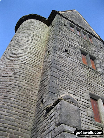 Pigeon Tower (Rivington Moor). Walk route map l110 Rivington Pike from Great House Information Centre, Rivington Lane photo