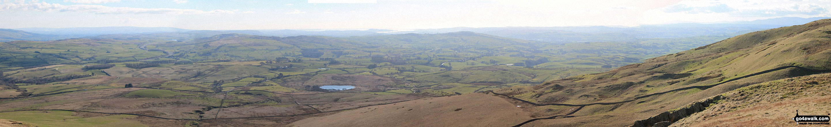 The view south-east and west from the summit of Grayrigg Pike (Grayrigg Forest)