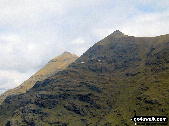 Ben More (left) and Stob Binnein (right) from the upper slopes of Beinn Tulaichean