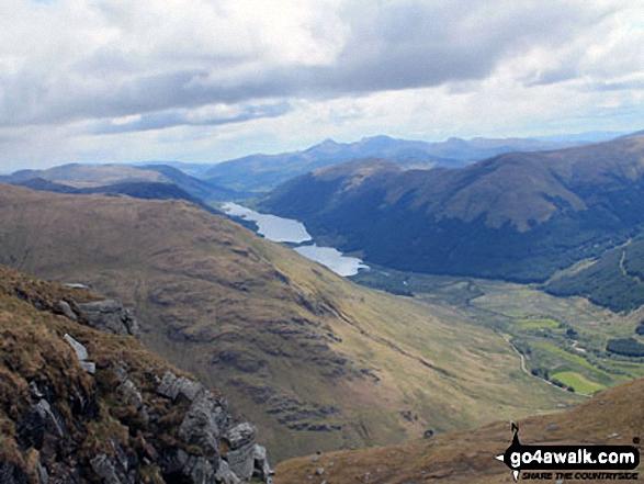 Loch Doine, Loch Voil, Stob Fear-tomhais (Ceann na Baintighearna) and Inverlochlarig from Beinn Tulaichean