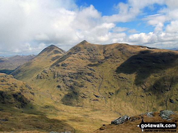 Ben More (left) and Stob Binnein (right) from the summit of Beinn Tulaichean