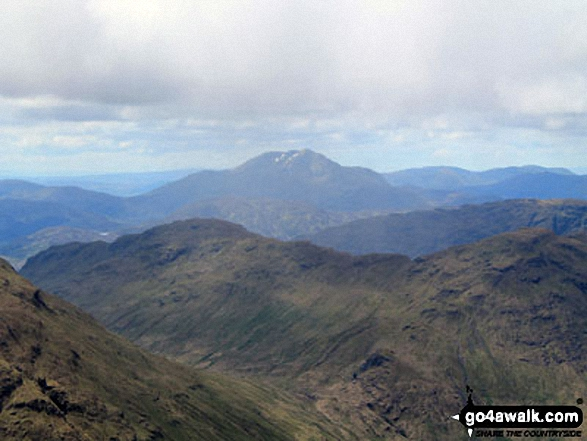 A distant Ben Lomond from the summit of Beinn Tulaichean