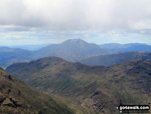 A distant Ben Lomond from the summit of Beinn Tulaichean