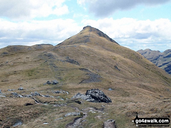 Beinn Tulaichean from the bealach above Coire Earb