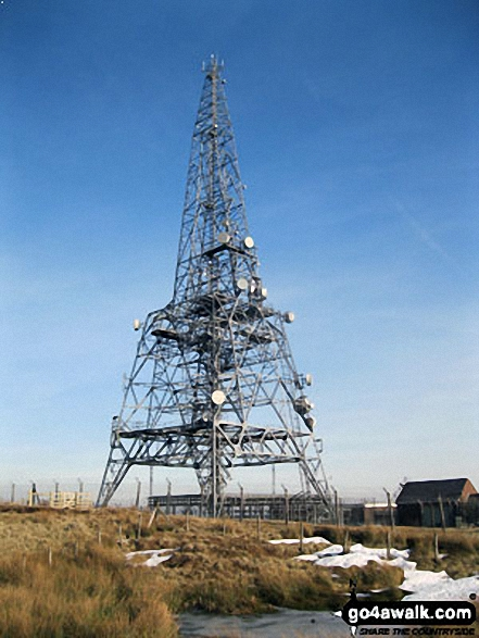 Telecommunications tower on Winter Hill (Rivington Moor)