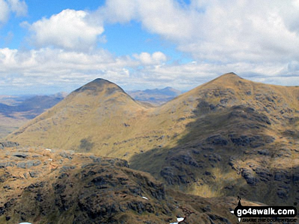 Ben More (left) and Stob Binnein (right) from the summit of Cruach Ardrain